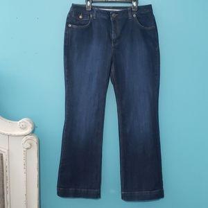 Lands' End original fit modern waist boot cut jean